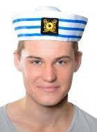 Navy Sailor Adult's Striped Gob Costume Hat