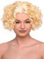 Curly Blonde Bob Women's Flapper Costume Wig