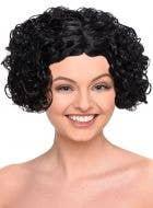 Curly Black Bob Women's Flapper Costume Wig