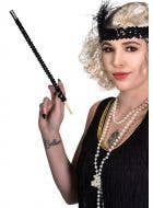 Black Sequined Cigarette Holder Flapper Costume Accessory View 1