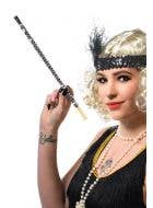 Silver Sequined Roaring 20's Cigarette Holder View 1