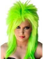 Punk Rocker Wig in Fluro Green