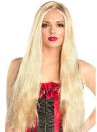 "24"" Extra Long Golden Blonde Wig"