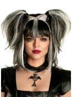 Black and White Fallen Angel Women's Halloween Costume Wig