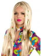 Womens Wild Child Womens Blonde Hippie Costume Wig By Elevate Costumes - Main Image