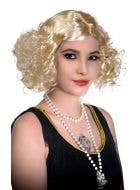 1920's & 30's Flapper Movie Star Platinum Blonde Costume Wig View 2