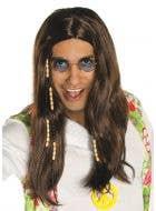 1970's Peace Hippie Men's Costume Wig