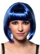 Women's Dark Royal Blue Short Bob Costume Wig Front