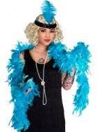 2 Tone Turquoise Feather Boa Costume Accessory