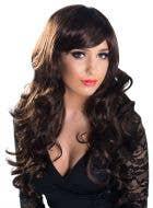 Chloe Dark Brown Soft Curls Deluxe Fashion Wig