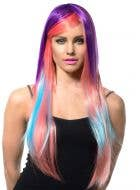 Ashlin Long Deluxe Rainbow Wig