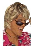 Surfer Dude Men's Blonde Mullet Costume Wig