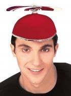 Novelty Red Propeller Costume Hat