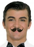 Winged Black 100% Human Hair Costume Moustache