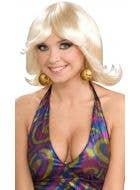 Forum Novelties womens blonde disco flip 1960s costume accessory wig - Main Image