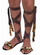 Strappy Caveman Prehistoric Bone Animal Fur Sandals Image