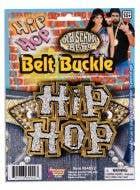 Hip Hop Gold Metal Belt Buckle Costume Accessory