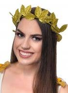 Gold Glitter Laurel Wreath Headband