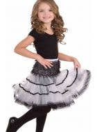Black and White Girl's Fancy Dress Costume Petticoat Front