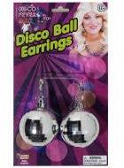 70s Disco Silver Disco Ball Earring for Women - Main Image