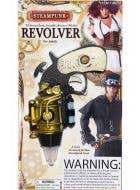 Gold Steampunk Revolver Gun Costume Weapon