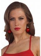 Christmas Bauble Red Earrings