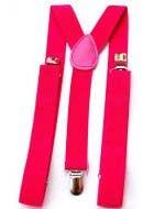 1980's Punk Rock Neon Pink Suspenders