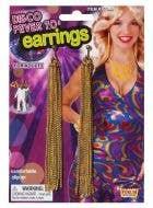Disco Fever 70's Costume Earrings