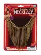 Roaring 20's Gold Diamante Costume Jewellery Necklace