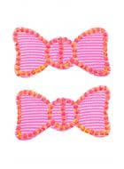 Club Candy Neon Pink Hair Cling Bow