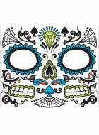 Men's Day Of The Dead Temporary Tattoo Makeup