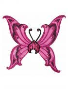 Hot Pink and Black Glitter Deluxe Butterfly Costume Wings