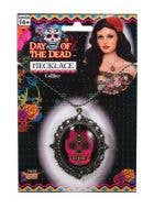 Sugar Skull Pink Day Of The Dead Costume Necklace
