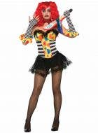 Evil Clown Women's Halloween Costume Corset