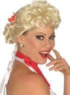 Womens Blonde Wig 1950s Housewife Costume Accessory - Main Image