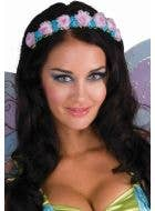 Pink and Blue Floral Fairy Costume Headband