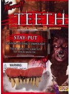 Adult's Scary Halloween Werewolf Custom Fitting Teeth And Putty Novelty Costume Fangs Costume Accessory Main Packaging Image