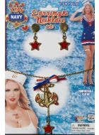 Anchor and Star Sailor Costume Jewellery Set