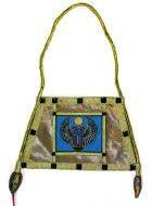 Embroidered Gold Fabric Egyptian Costume Handbag - Main View