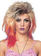 Glam 80's Women's Blonde Mullet Costume Wig