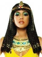 Braided Black Queen Cleopatra Women's Costume Wig