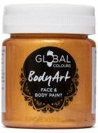 Metallic Gold Face and Body Paint Water Based Costume Makeup in Jar