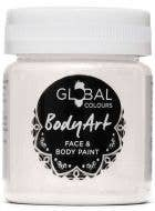 Metallic Pearl White Face and Body Paint Water Based Costume Makeup in Jar