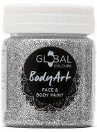 Holographic Silver Glitter Gel Face and Body Fancy Dress Costume Makeup