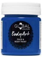 Deep Blue Face and Body Paint Water Based Costume Makeup in Jar