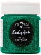 Green Glitter Gel Face and Body Fancy Dress Costume Makeup