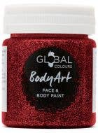 Holographic Red Glitter Gel Face and Body Fancy Dress Costume Makeup
