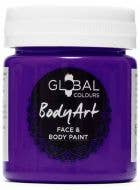 Purple Face and Body Paint Water Based Costume Makeup in Jar