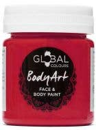 Deep Red Face and Body Paint Water Based Costume Makeup in Jar
