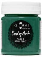 Dark Green Face and Body Paint Water Based Costume Makeup in Jar